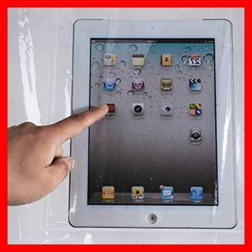 """Shower X 72"""" Clear 8 Touch Pockets For Ipad Table"""