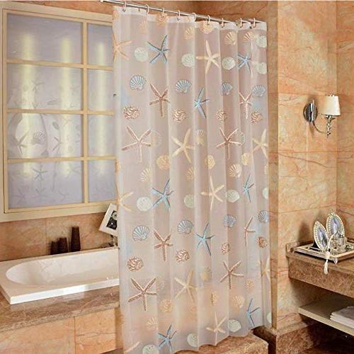 Meiosuns Theme Waterproof Mildew Resistant Bathroom Home Shower Curtain Liners with Rustproof Curtain Hooks