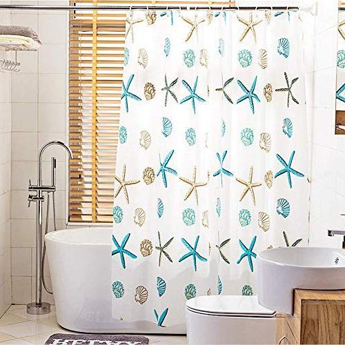 Meiosuns Theme Peva Mildew Resistant with Grommets Curtain