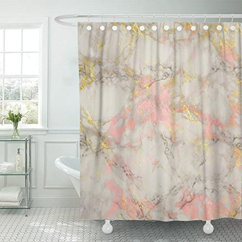 shower curtain pink abstract rose