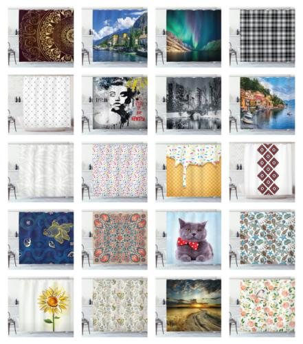 """Shower Curtain 75"""", 12 Hooks with by Ambesonne"""