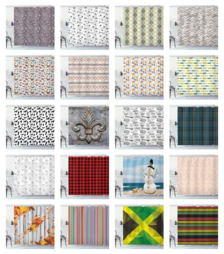"""Shower Curtain with 12 70"""", 75"""", Ambesonne"""
