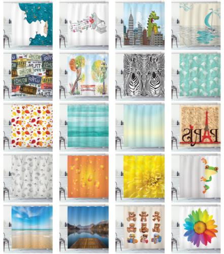 Ambesonne Shower Curtain Set with Printed for