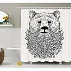 Ambesonne Shower Curtain Sets Indie Curtain, Doodle Style Sk