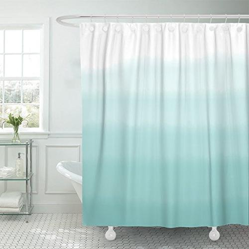shower curtain teal dip turquoise