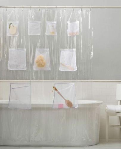 Shower Curtain Liner With Mesh Quick Colors