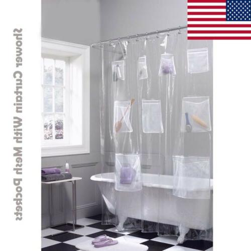 shower curtain peva vinyl liner with mesh