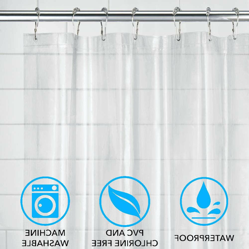 Shower Curtain Water Repellent Mold Resistant No Odor Chlori