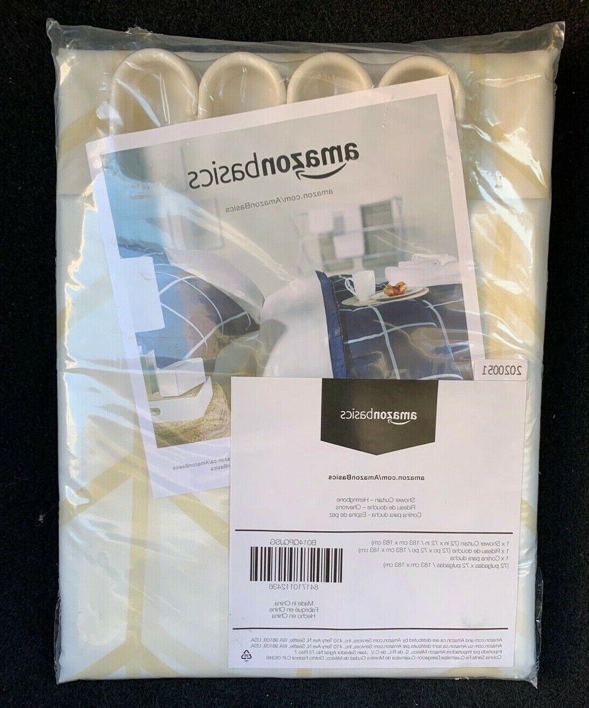 AmazonBasics Shower with Hooks, 72-Inch,