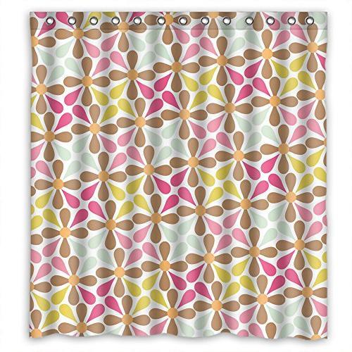 shower curtains flower polyester width