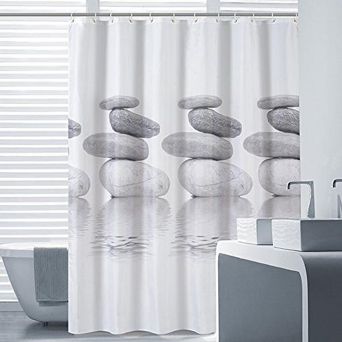 shower curtains grey stone