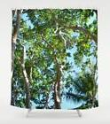 Shower curtains, Tree shower curtain, Photo 45 green blue na