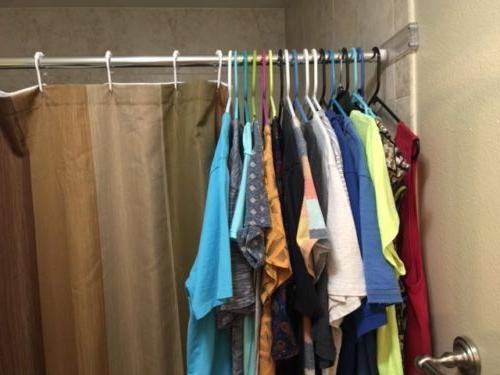 Shower Holder Curtain Bracket Wall