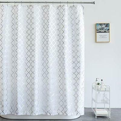 Aimjerry Shower Curtain BathroomStriped Washable