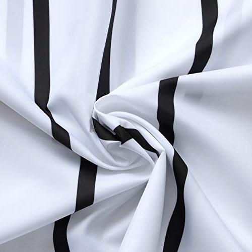 """Simple Liner Water Repellent Fabric Mildew Resistant Washable White Hooks - 72"""" and"""