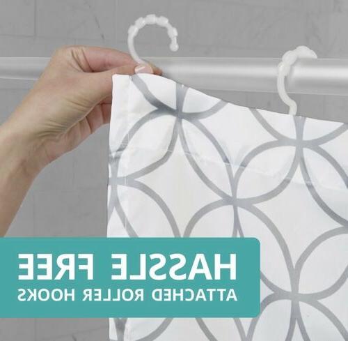 Maytex Smart Shower Curtain Hooks Trellis Brand