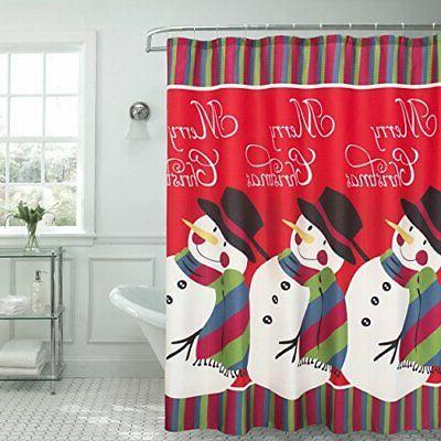 snowman surprise textured shower curtain 70 x