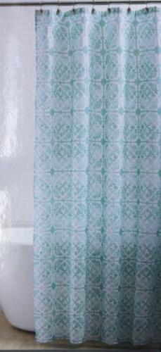 """**Comfort Bay Soft Fabric Shower Curtain 70""""x72"""" mint floral"""