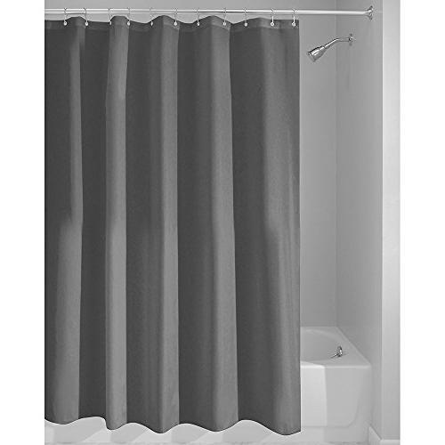 solid charcoal microfiber bath curtains