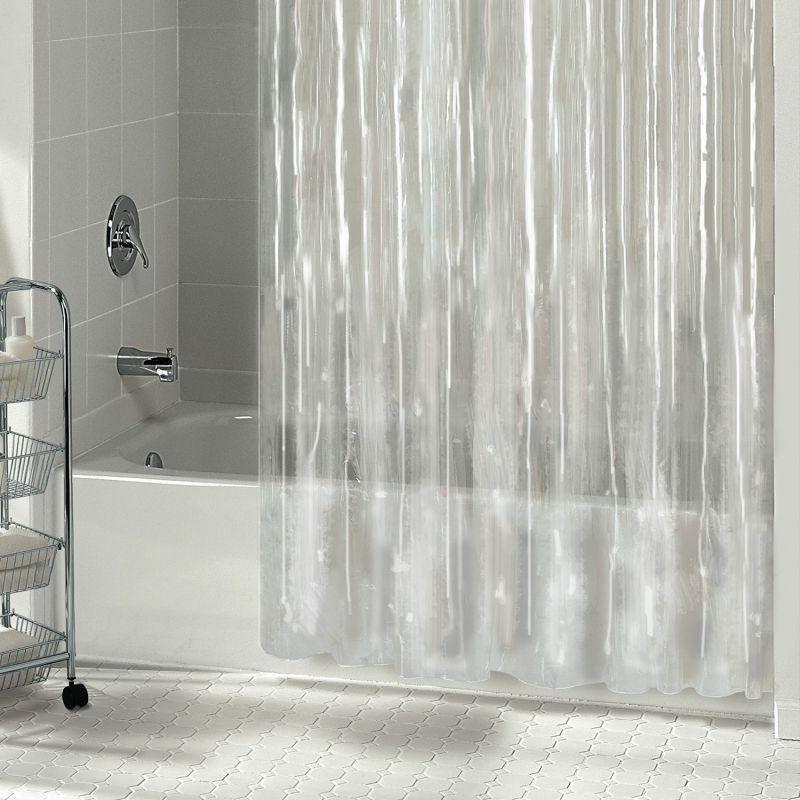 1pc solid vinyl bathroom shower curtain liner