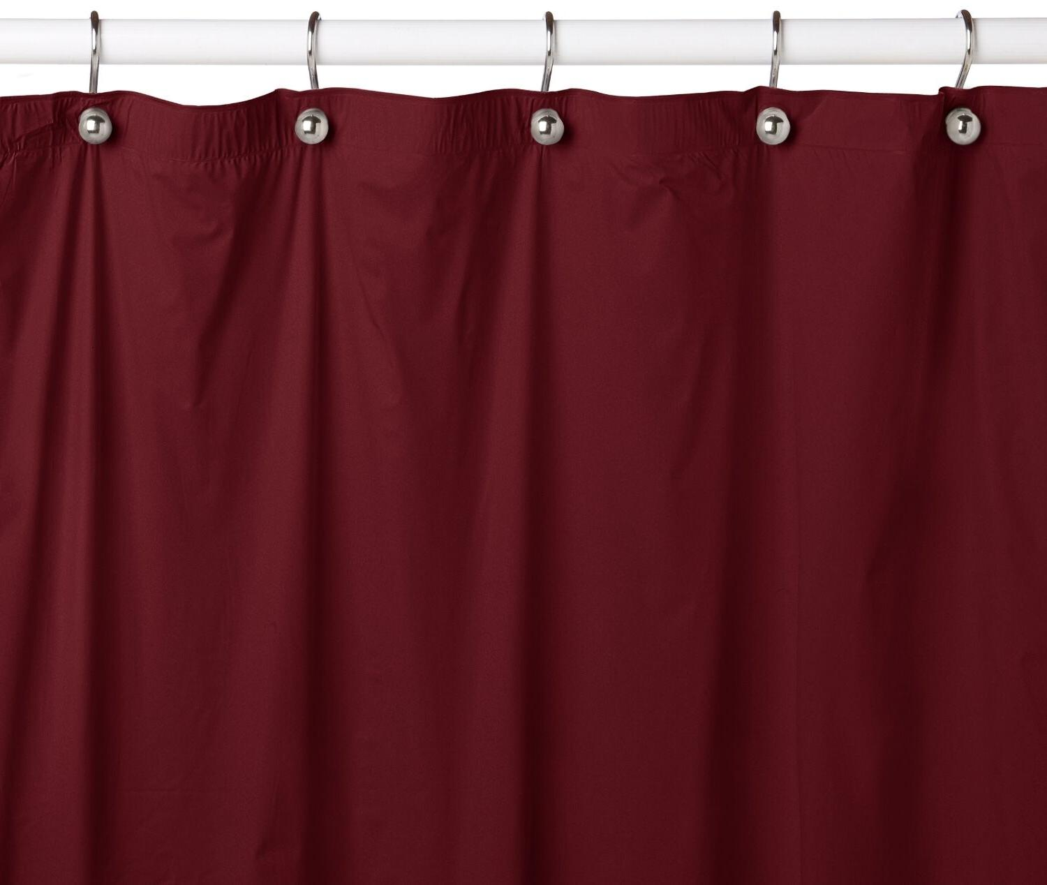 solid water repellent bathroom shower curtain liner