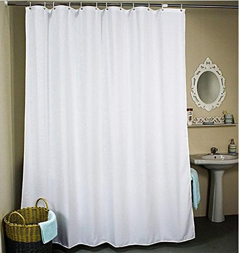 solid white shower curtain polyester