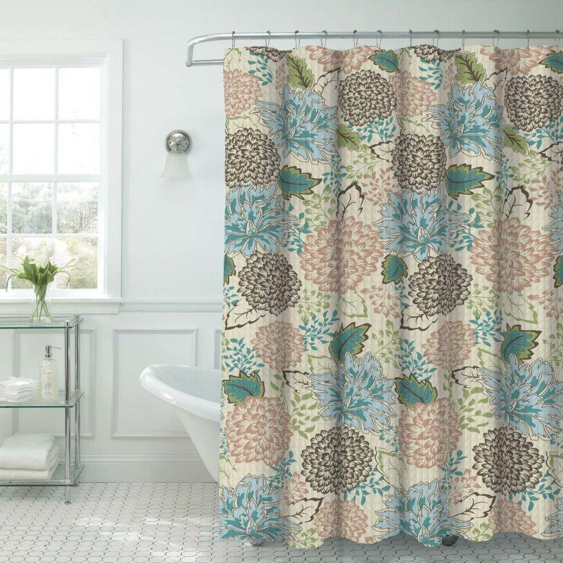sonrie faux linen textured 13 piece shower