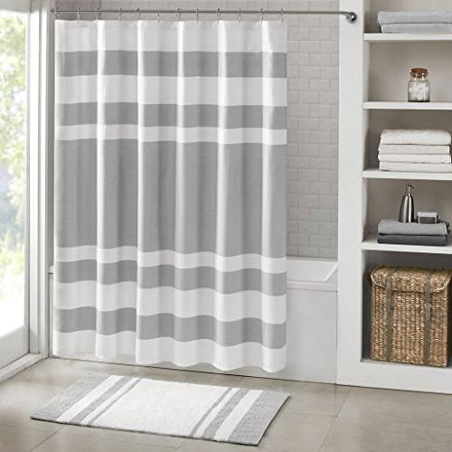 "Waffle Curtain 3M - Water Repellent Stain Resistant - Grey - X 72"" - Washable"