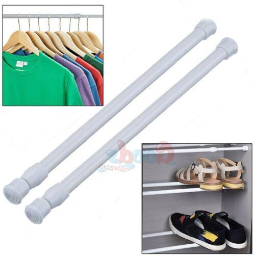 2pcs Tension Curtain Rod Spring Load Adjustable Curtain Pole
