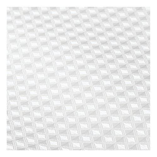 mDesign Light Weight Waffle Weave Polyester with Reinforced Showers and Bathtubs Geometric Square - x