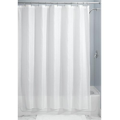 """mDesign Light Weight Polyester Reinforced for Showers and Geometric Square x 96"""", Pack of 2, White"""