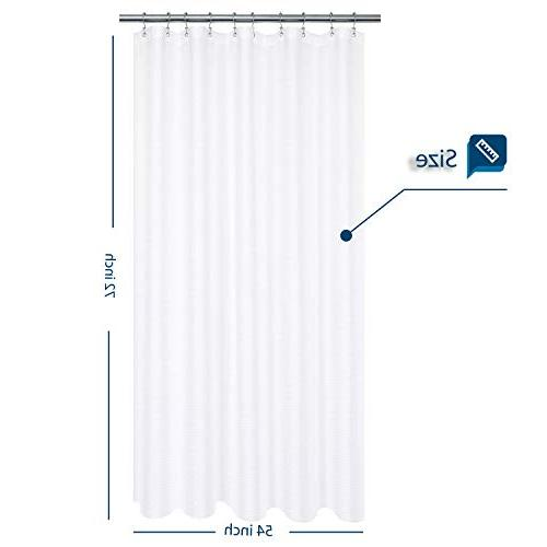 Stall x Fabric, Collection, Resistant, Repellent, White Pique Bathroom Curtains