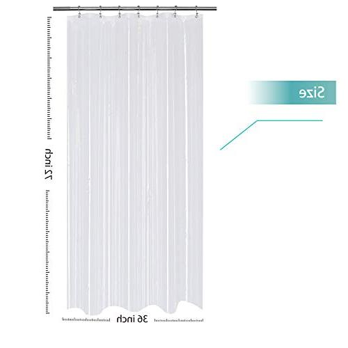 Mrs Small Stall Shower Curtain 36 x 72 - PEVA - Water and Resistant Non-Toxic and Odorless, Antibacterial