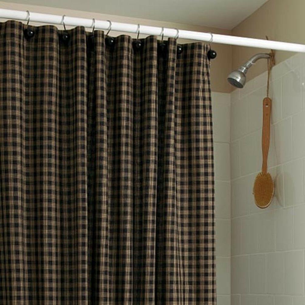 "Park Designs Sturbridge Shower Curtain, 72 x 72"", Black"