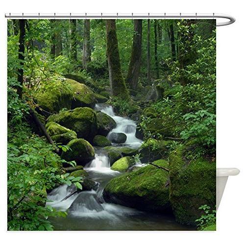 summer forest brook decorative fabric