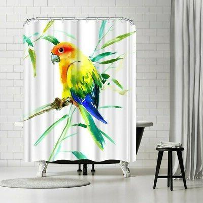 sun conure parakeet shower curtain