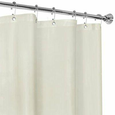 Super Heavyweight Premium 10 Gauge Shower Curtain Liner with