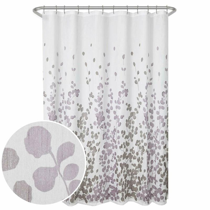 sylvia printed faux silk fabric shower curtain