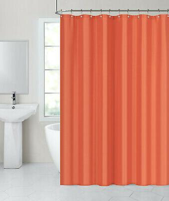 tangerine fabric shower curtain liner 70 in