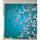 Ambesonne Teal Shower Curtain Sets Pink Blossoms Decor By, L
