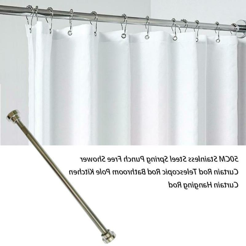 Telescopic Shower Curtain Hanging Rod Free Punching Stainles