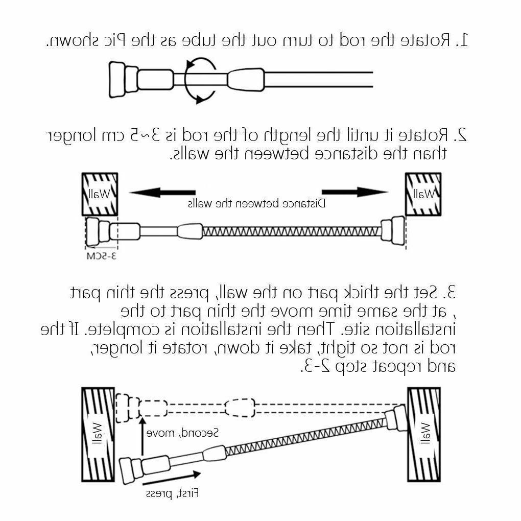 Tension Shower Rod Adjustable Rail Hanging