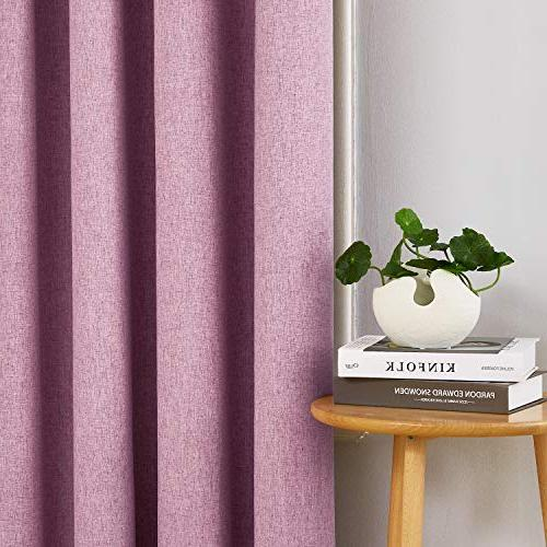 Deconovo Total with Faux Thermal Insulated Curtains Room Pink 52W inch Panels