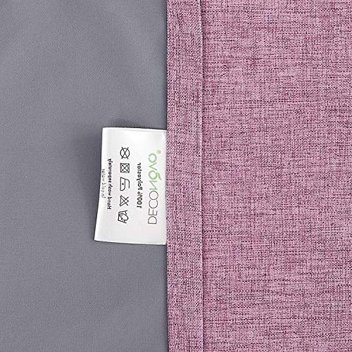 Deconovo Total Blackout Curtains with Thermal Curtains Room Pink inch