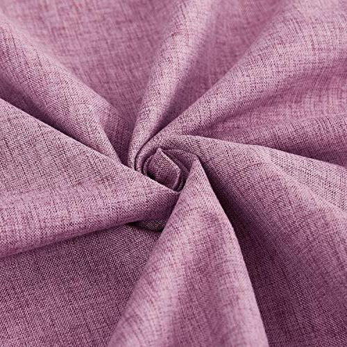 Deconovo with Coating Thermal Grommet Curtains Pink 72L inch 2