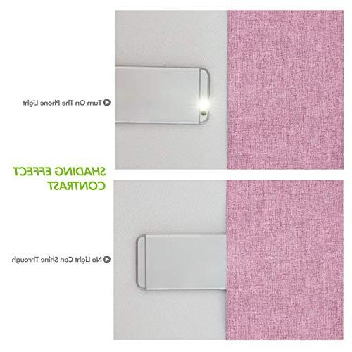 Deconovo Total with Thermal Curtains for Pink inch Panels