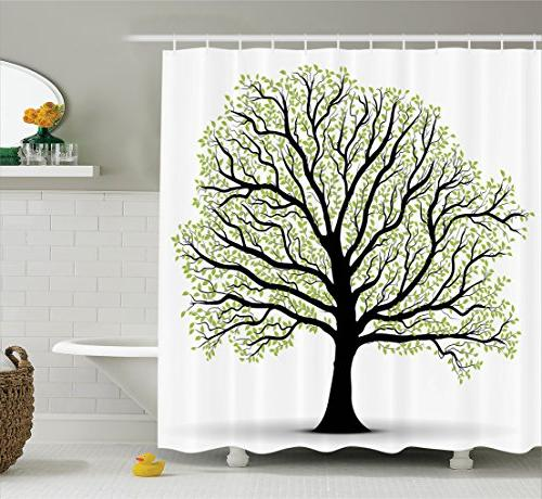 tree life decor shower curtain