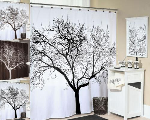 tree silhouette polyester fabric shower curtain 70