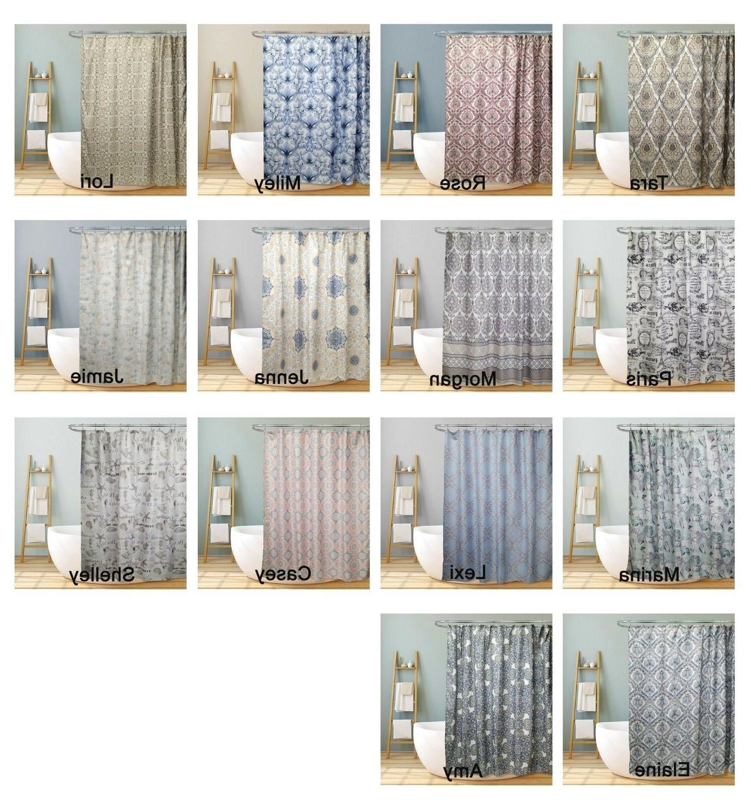 trendy decorative bathroom fabric shower curtain floral