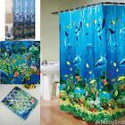 Tropical Beach Dolphin Sea Fish Shower Curtain Blue Ocean Th